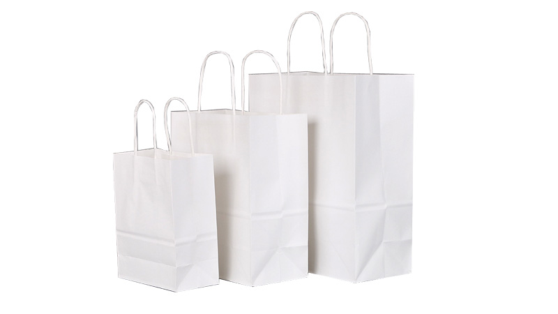 Party/Gifts/shopping/retail recycled kraft paper bags with handles stock