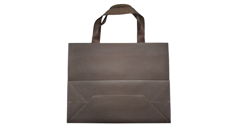 High-end paper bag with debossed logo
